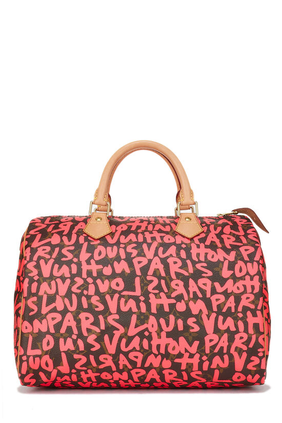 Stephen Sprouse x Louis Vuitton Monogram Pink Graffiti Speedy 30, , large image number 0