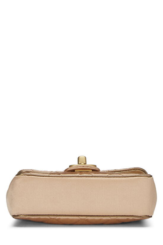 Beige Quilted Satin Half Flap Micro, , large image number 4