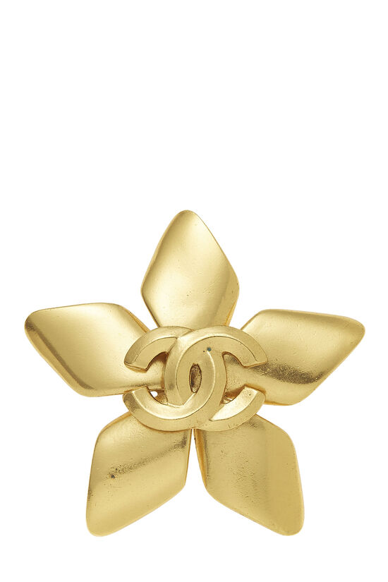 Gold 'CC' Star Pin, , large image number 0