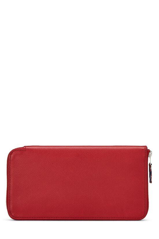 Rouge Casaque Epsom Silk-In Azap Wallet, , large image number 2