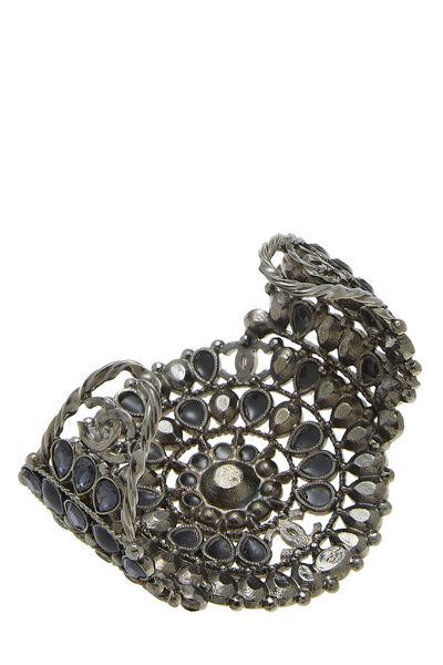 Gunmetal & Black Stone Cuff, , large