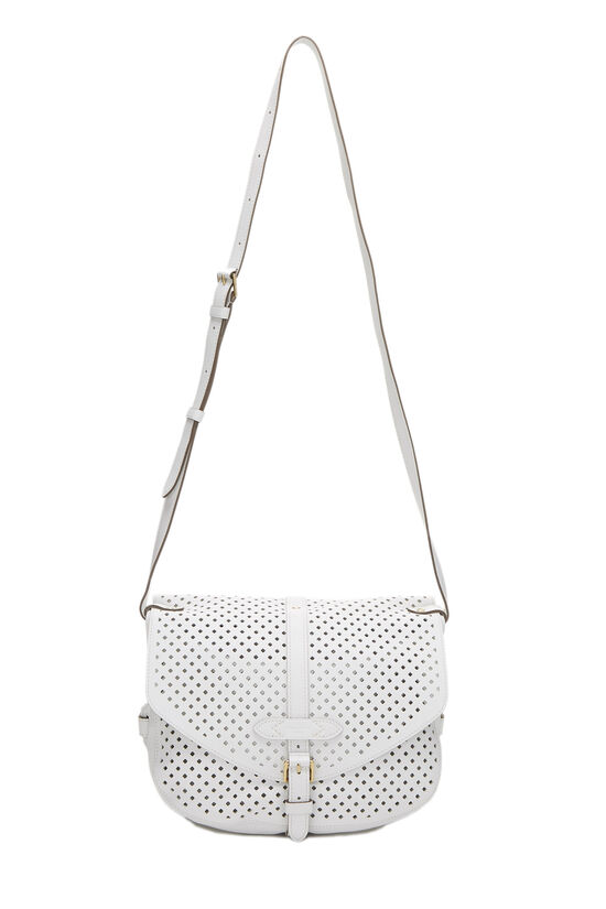 White Perforated Leather Saumur 30, , large image number 6