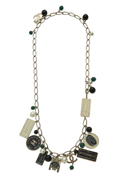Gold & Multicolor Enamel Charmy Necklace