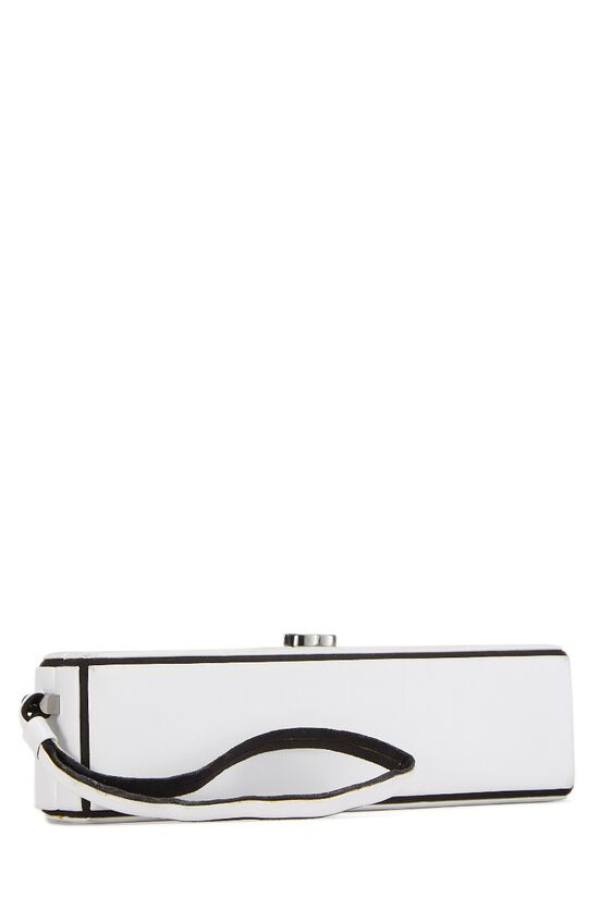 White Lambskin Clutch, , large image number 1