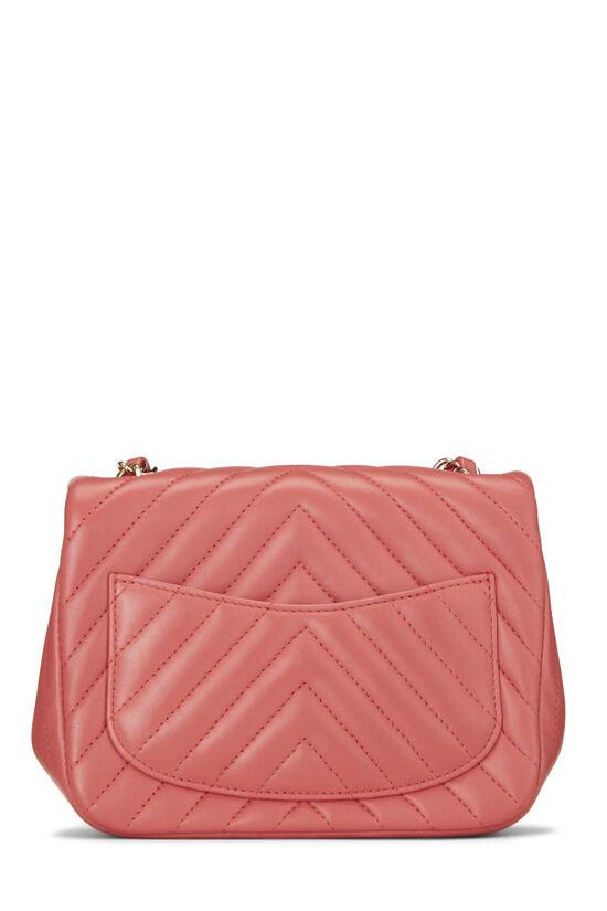 Pink Chevron Lambskin Classic Square Flap Mini, , large image number 3