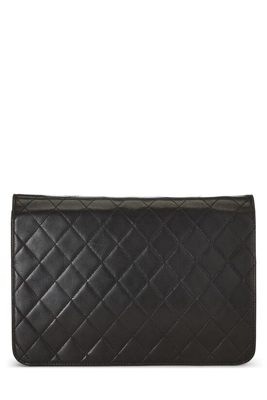 Black Quilted Lambskin Ex Flap Medium, , large image number 2