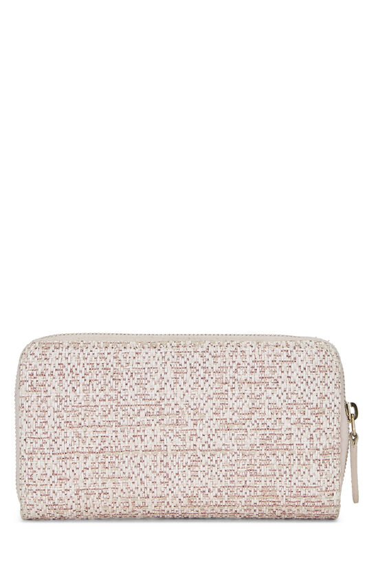 Pink Woven Raffia Deauville Wallet Small, , large image number 2