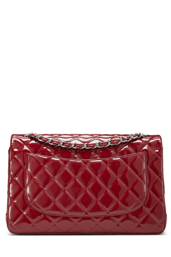 Red Quilted Patent Leather New Classic Double Flap Jumbo, , large image number 3