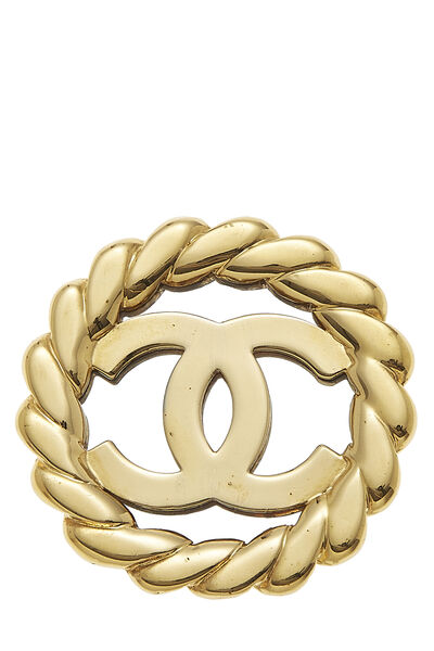 Gold & Silver 'CC' Pin Large