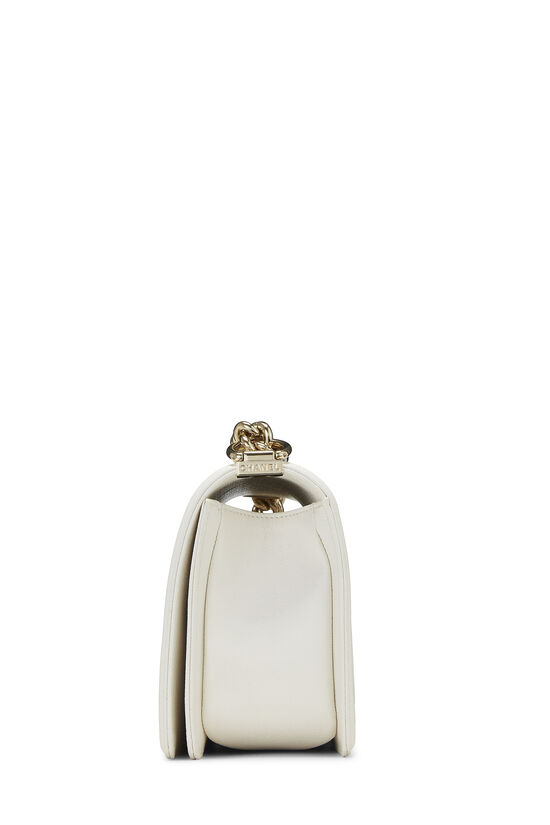 White Chevron Caviar Boy Bag Medium, , large image number 3