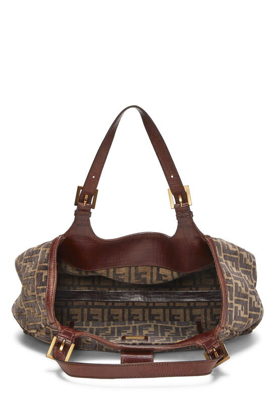 Brown Zucca Velour Borsa Sporty, , large image number 5