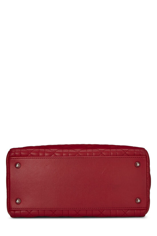 Red Cannage Quilted Lambskin Lady Dior Medium, , large image number 4
