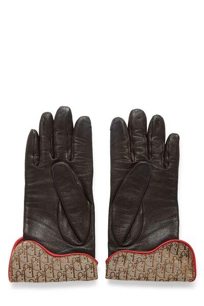 Brown Lambskin Rasta Gloves, , large