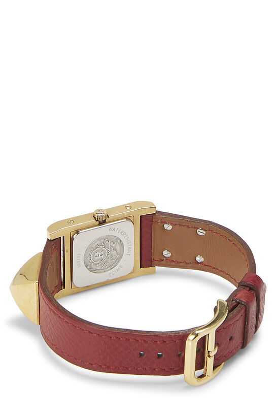 Red Courchevel & Gold Medor Watch, , large image number 2