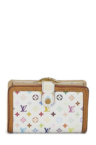 Takashi Murakami x Louis Vuitton White Monogram Multicolore Porte-Monnaie Viennois Wallet