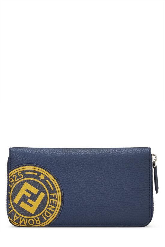 Navy Leather Forever Wallet, , large image number 0