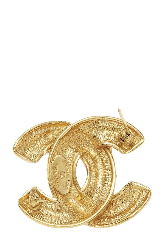 Gold Quilted 'CC' Pin Medium, , large image number 2