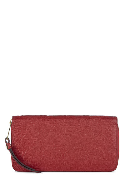 Cherry Monogram Empreinte Zippy Continental Wallet