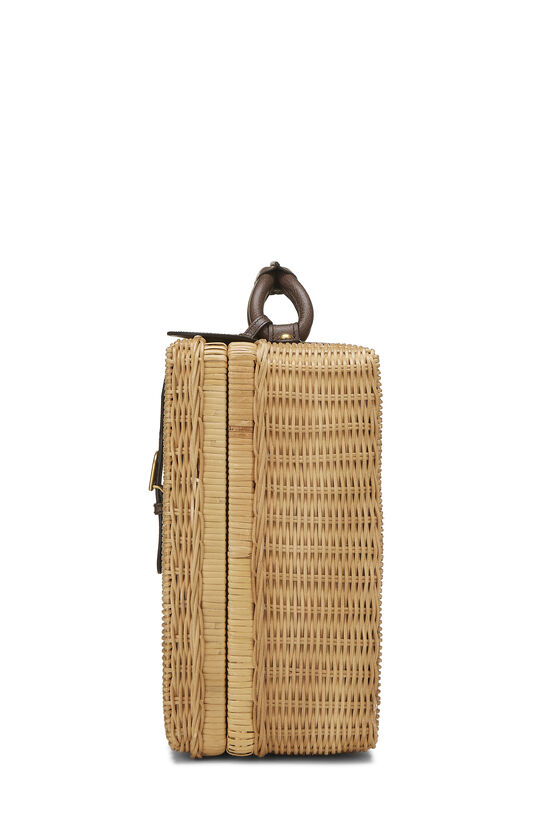 Natural Wicker Web Suitcase, , large image number 2