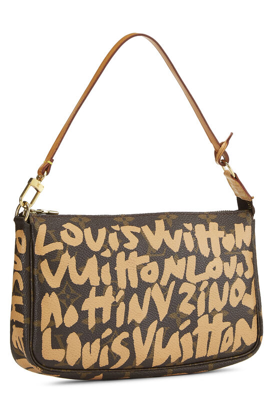 Stephen Sprouse x Louis Vuitton Beige Monogram Graffiti Pochette Accessoires, , large image number 1