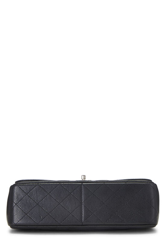 Black Quilted Caviar New Classic Double Flap Jumbo, , large image number 4