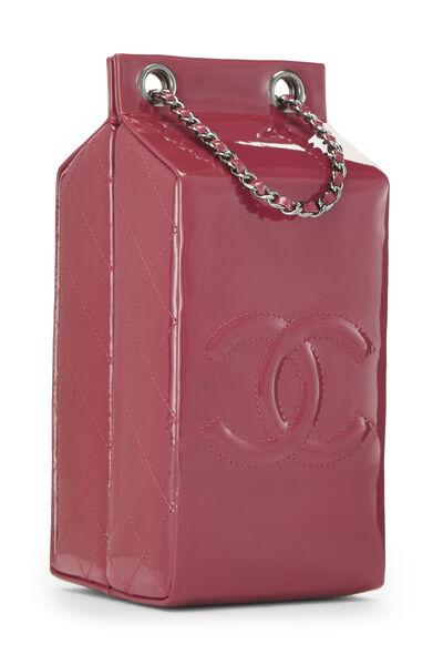 Pink Patent Leather Milk Carton Bag, , large