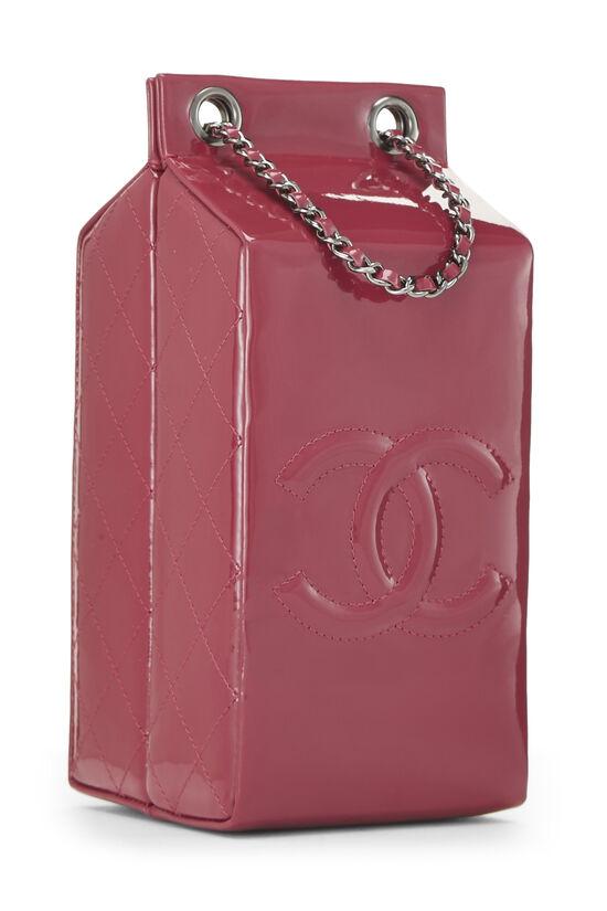 Pink Patent Leather Milk Carton Bag, , large image number 1