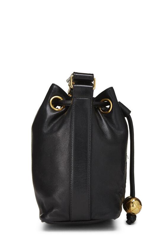 Black Lambskin 'CC' Bucket Bag Small, , large image number 3