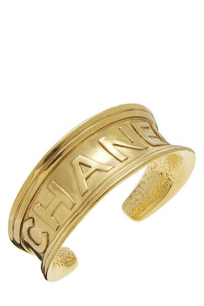Gold Logo Stamped Cuff