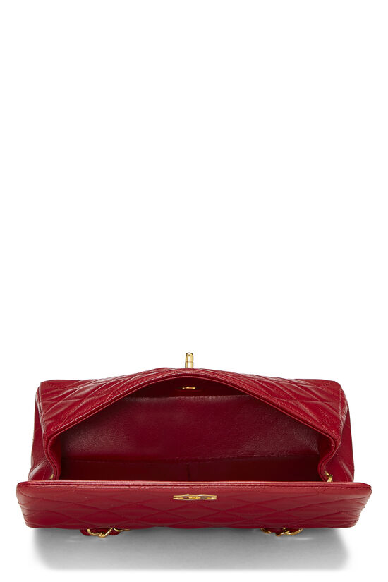 Red Quilted Lambskin Full Flap Mini, , large image number 5