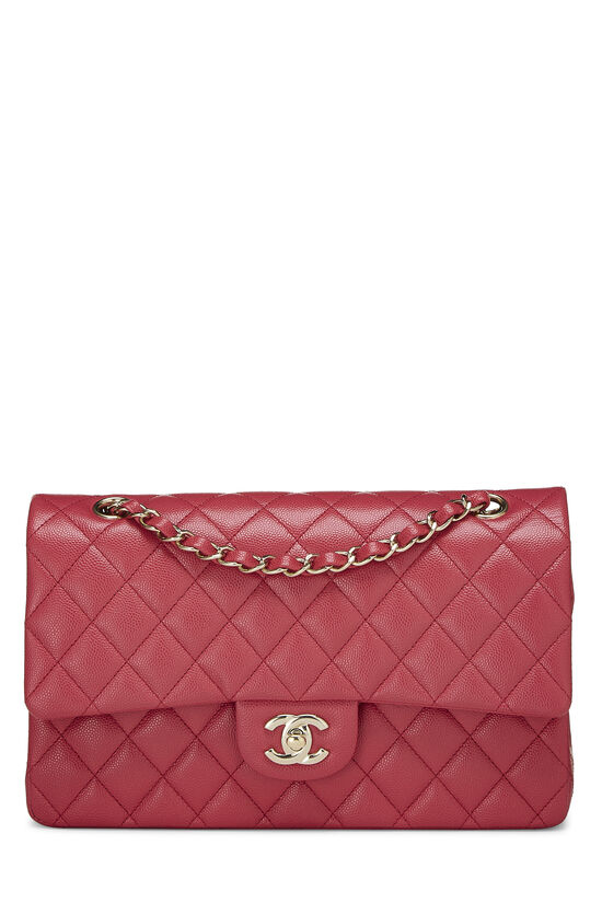 Pink Quilted Caviar Classic Double Flap Medium, , large image number 0