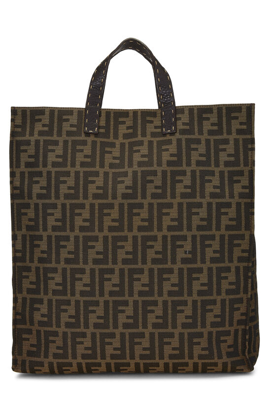 Brown Zucca Canvas Selleria Vertical Tote, , large image number 0