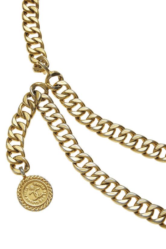 Gold 'CC' Chain Belt 2, , large image number 1