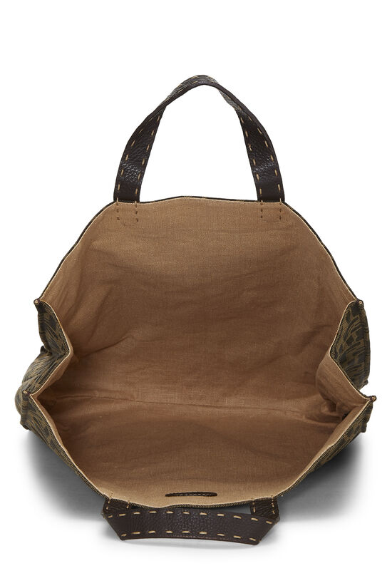Brown Zucca Canvas Selleria Vertical Tote, , large image number 5