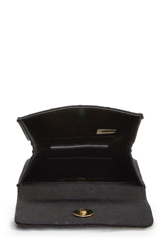 Black Quilted Silk Faille Belt Bag, , large image number 3