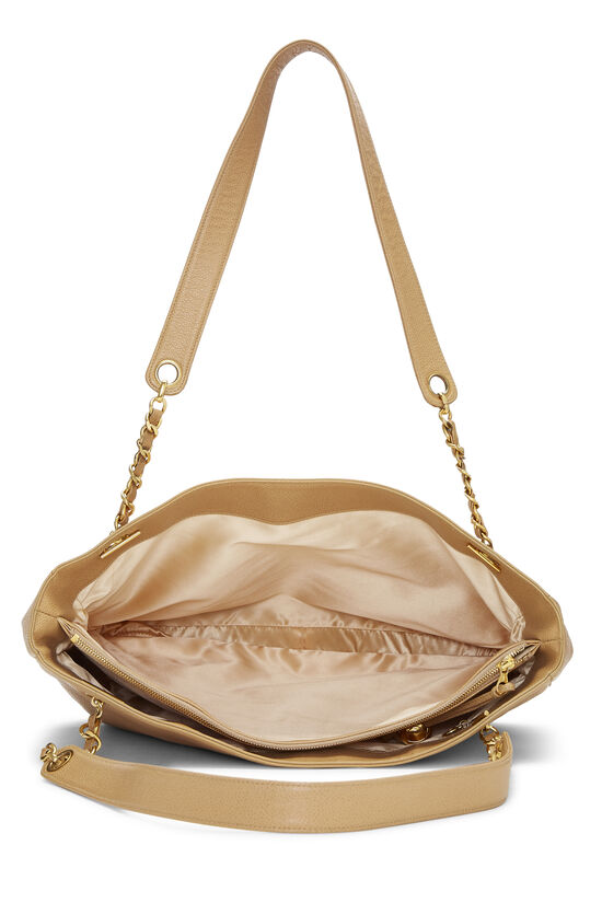 Beige Caviar 'CC' Tote Large, , large image number 5