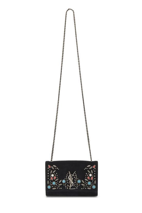 Black Suede Embellished Kate Small, , large image number 6