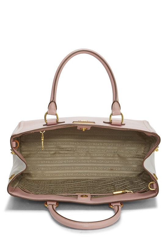 Pink & Ivory Saffiano Bicolor East West Tote, , large image number 5