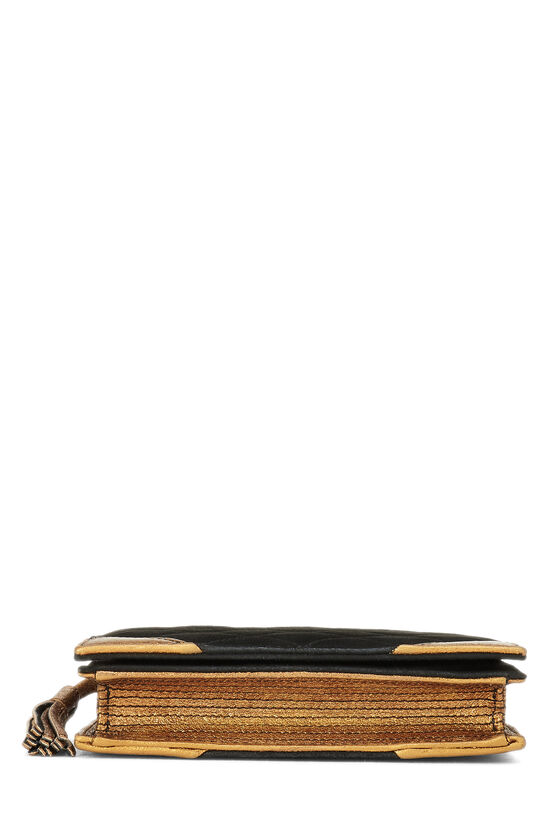 Black Quilted Suede Bible Clutch , , large image number 4