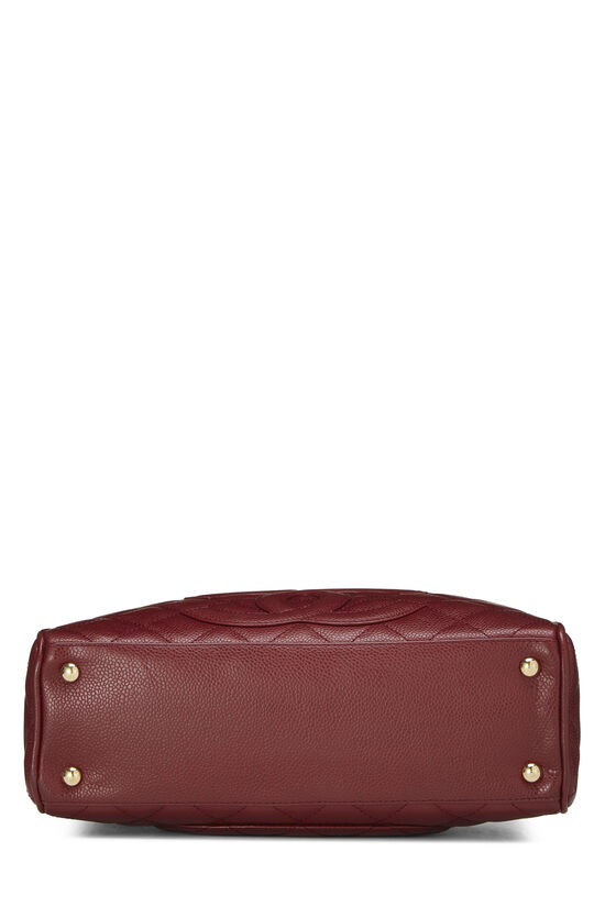 Burgundy Quilted Caviar Bowler Mini, , large image number 4