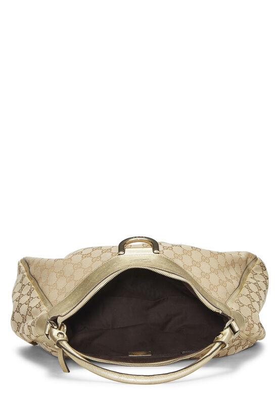 Gold Original GG Canvas Abbey Shoulder Bag Large, , large image number 5