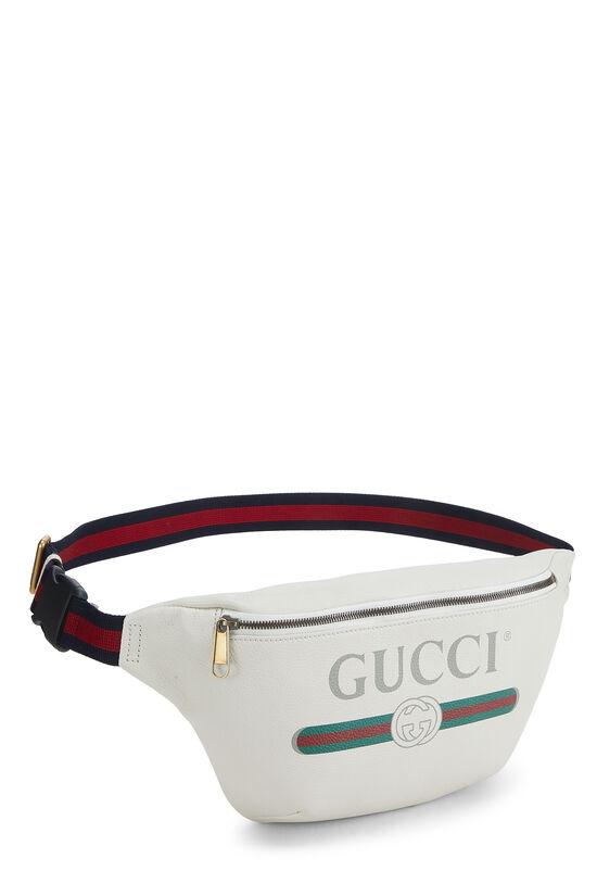 White Leather Logo Belt Bag Small, , large image number 1