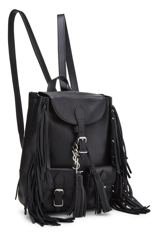 Black Calfskin Fringe Festival Backpack Small, , large image number 1