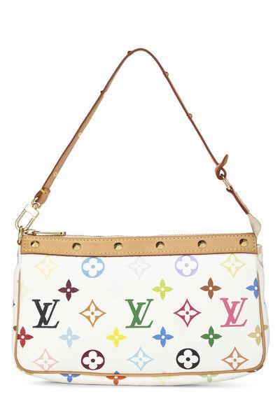 Takashi Murakami x Louis Vuitton White Monogram Multicolore Pochette Accessoires