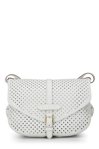 White Perforated Leather Saumur 30