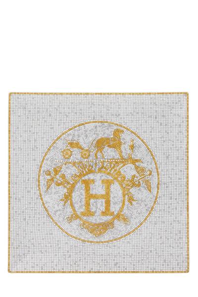 Gold Porcelain Mosaique au 24 Square Plate