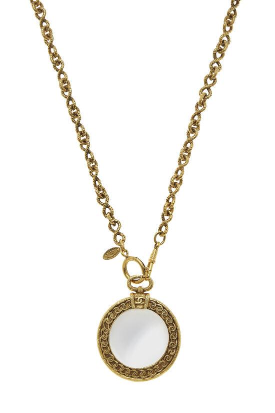 Gold Loupe Long Necklace, , large image number 1