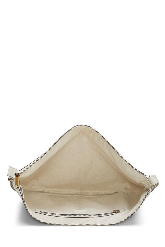 Ivory Leather Logo Hobo Bag, , large image number 5
