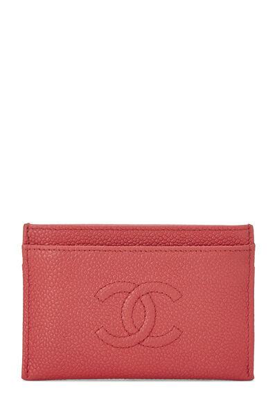 Red Caviar 'CC' Card Holder