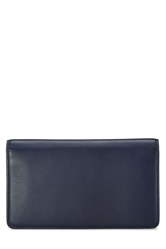 Navy & Silver 'CC' Calfskin Wallet Long, , large image number 2